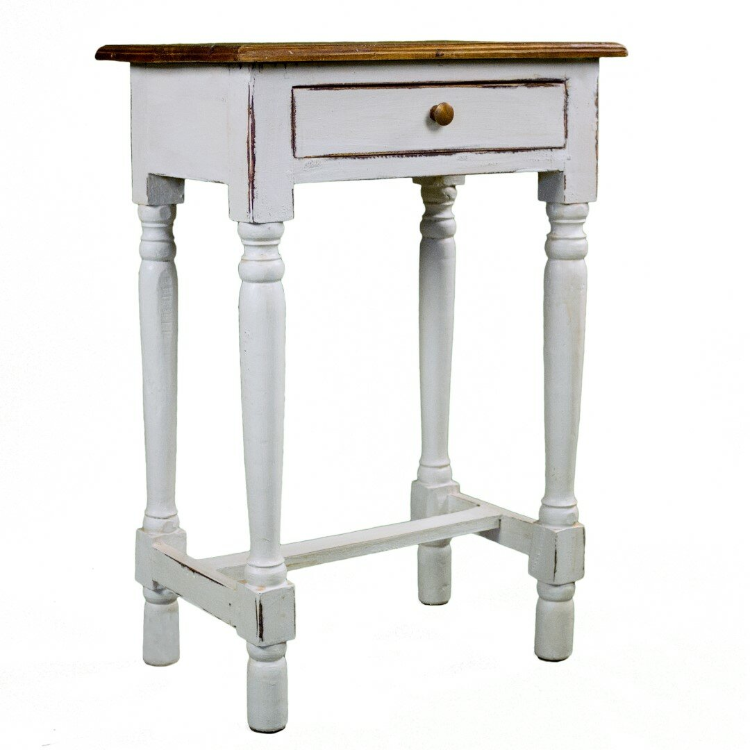 Antique revival rosemary rustic side table reviews wayfair for Rustic side table