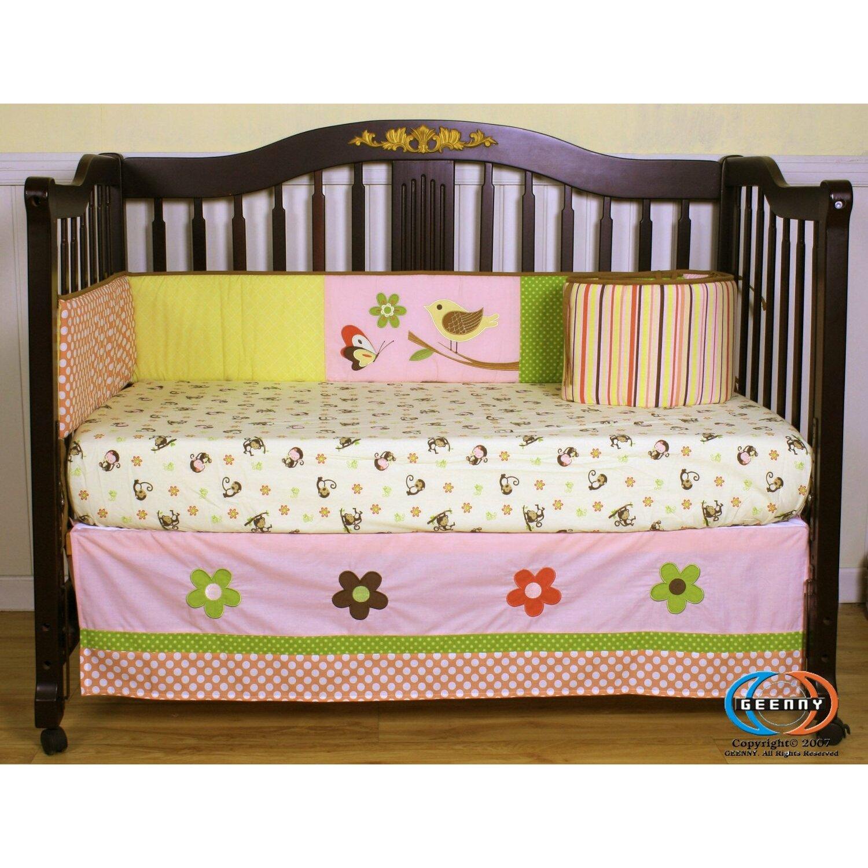 Geenny boutique monkey 13 piece crib bedding set reviews wayfair - Geenny crib bedding sets ...