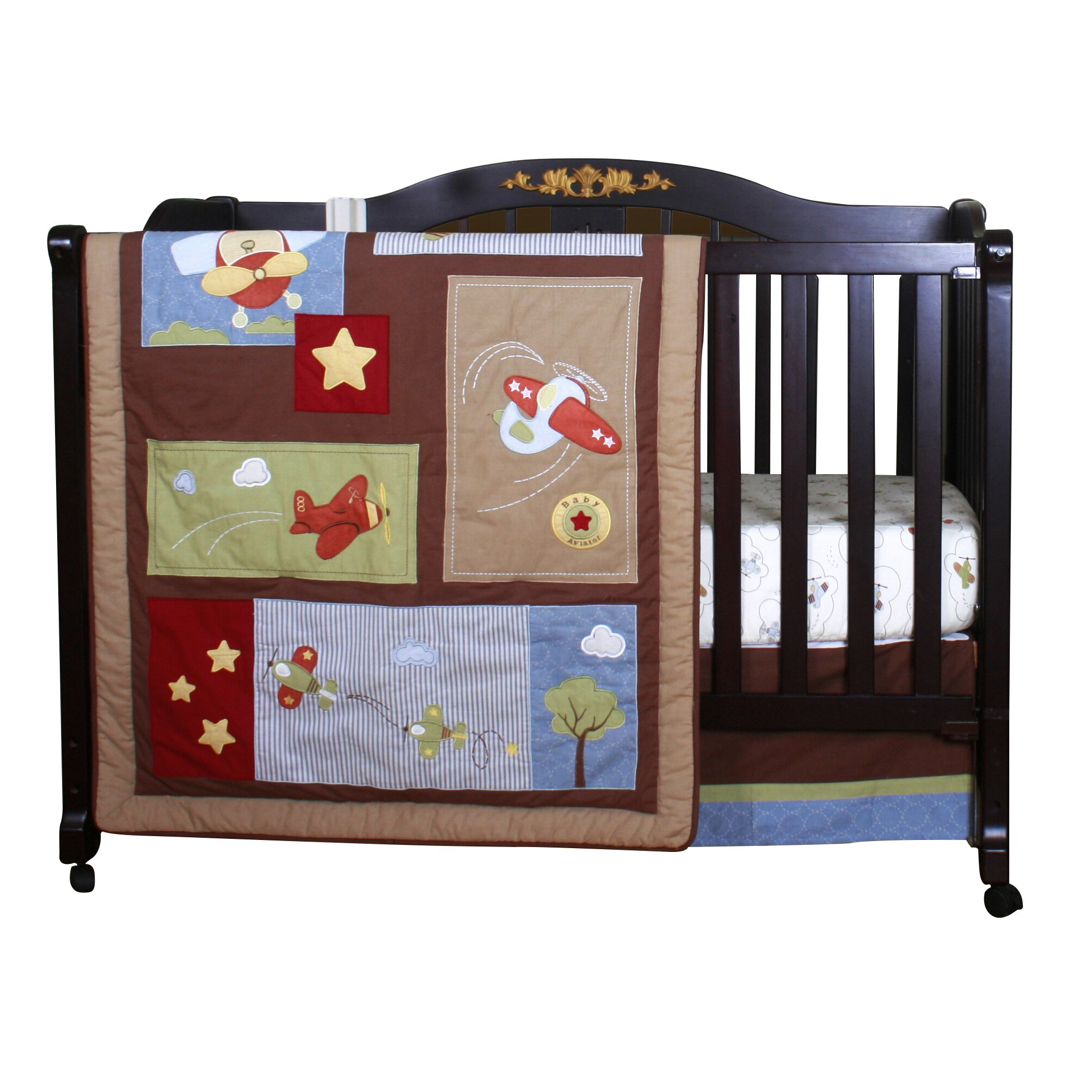 Aviator crib bedding 28 images sweet jojo designs aviator 9 piece crib bedding set aviator - Airplane baby bedding sets ...
