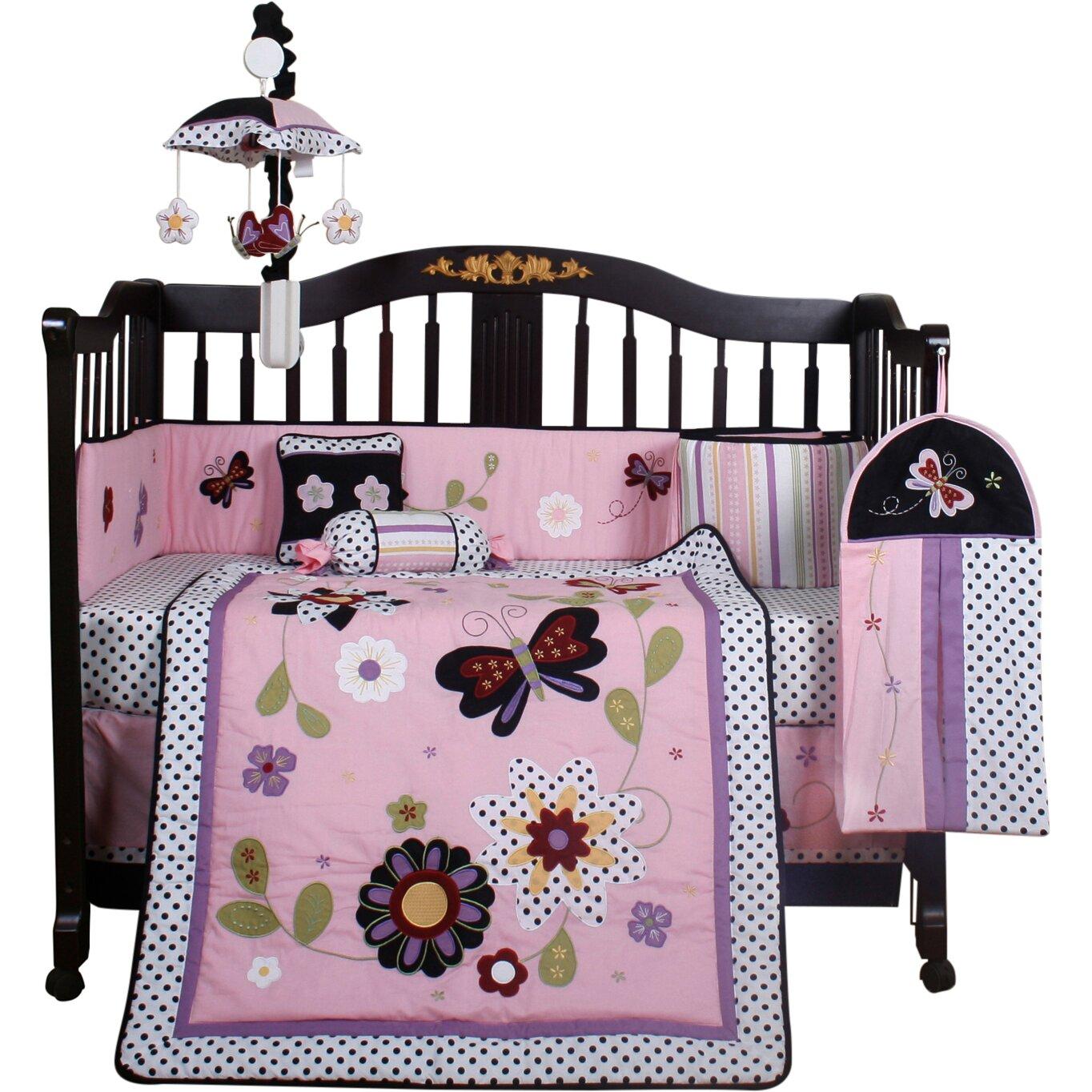 Geenny Boutique Daisy Garden 13 Piece Crib Bedding Set ...
