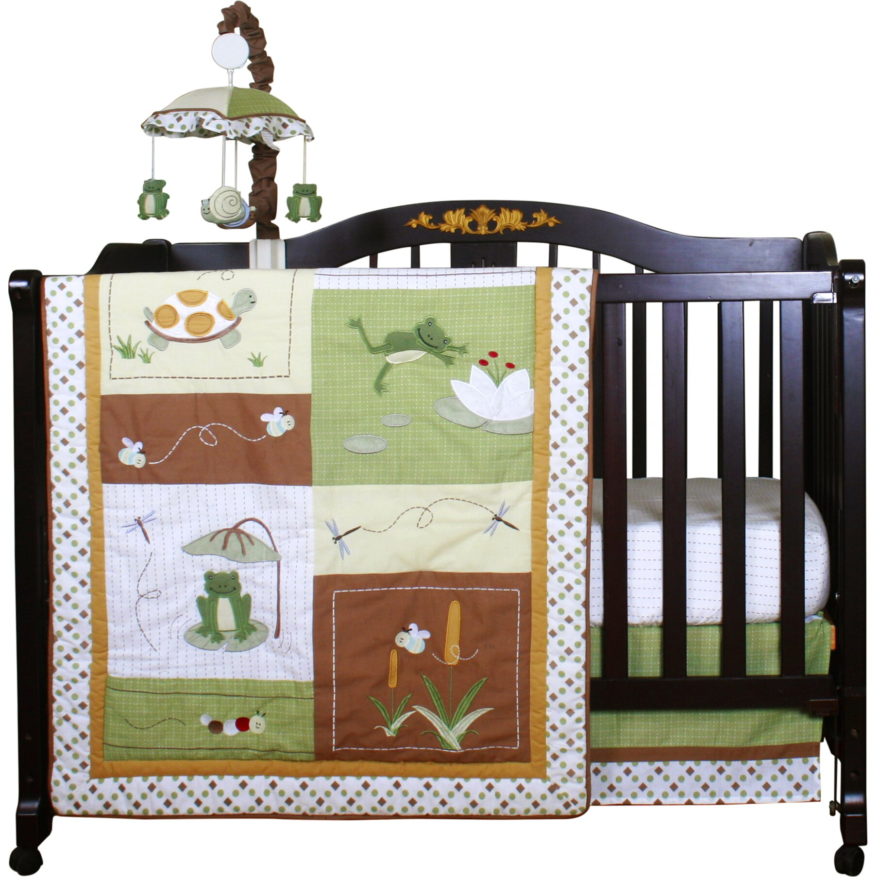 Geenny boutique new froggy froggie13 piece crib bedding set reviews wayfair - Geenny crib bedding sets ...