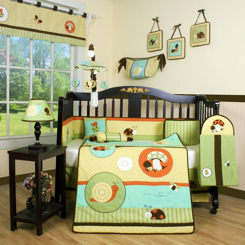 Geenny boutique garden paradise 13 piece crib bedding set reviews wayfair - Geenny crib bedding sets ...