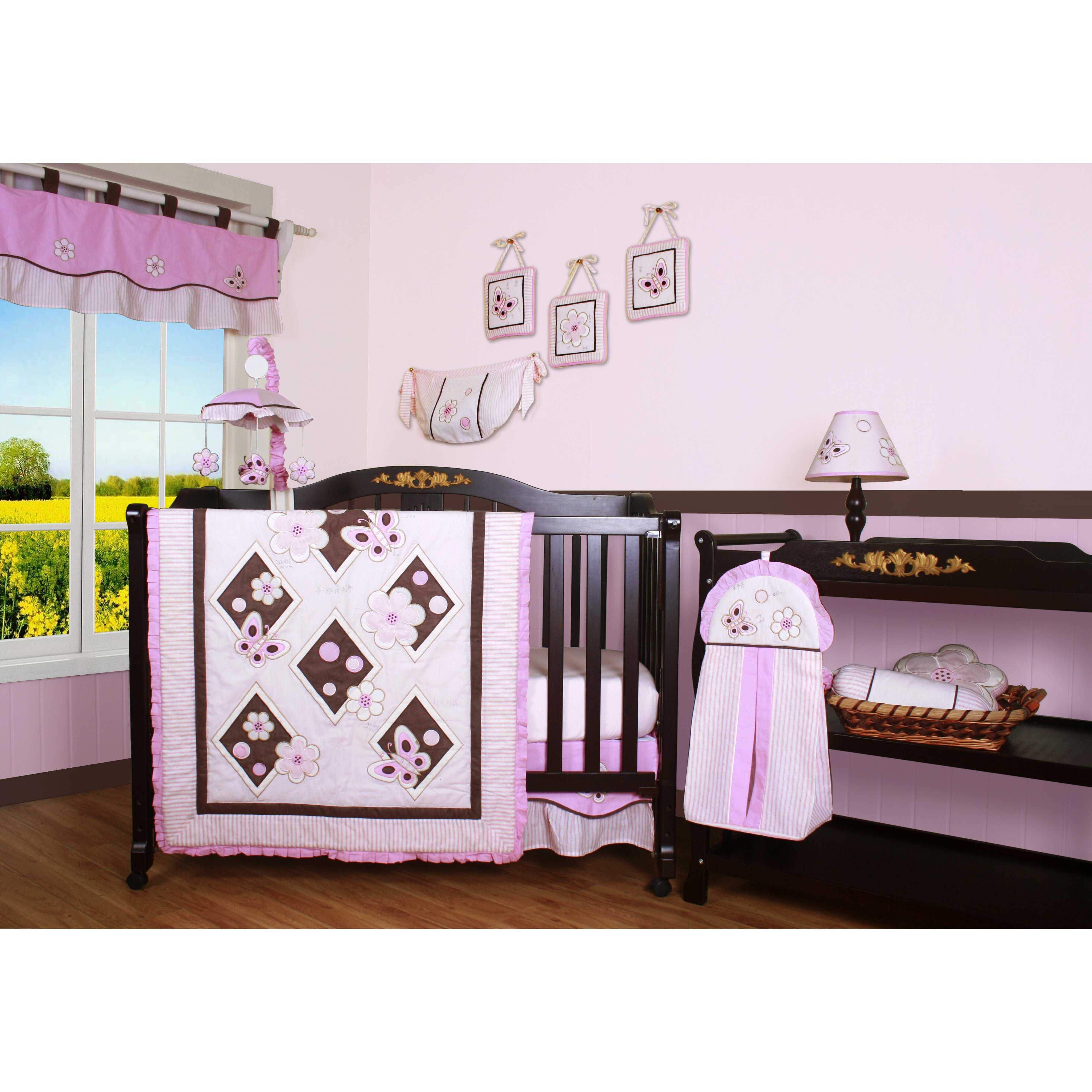 Geenny boutique butterfly 13 piece crib bedding set reviews wayfair - Geenny crib bedding sets ...