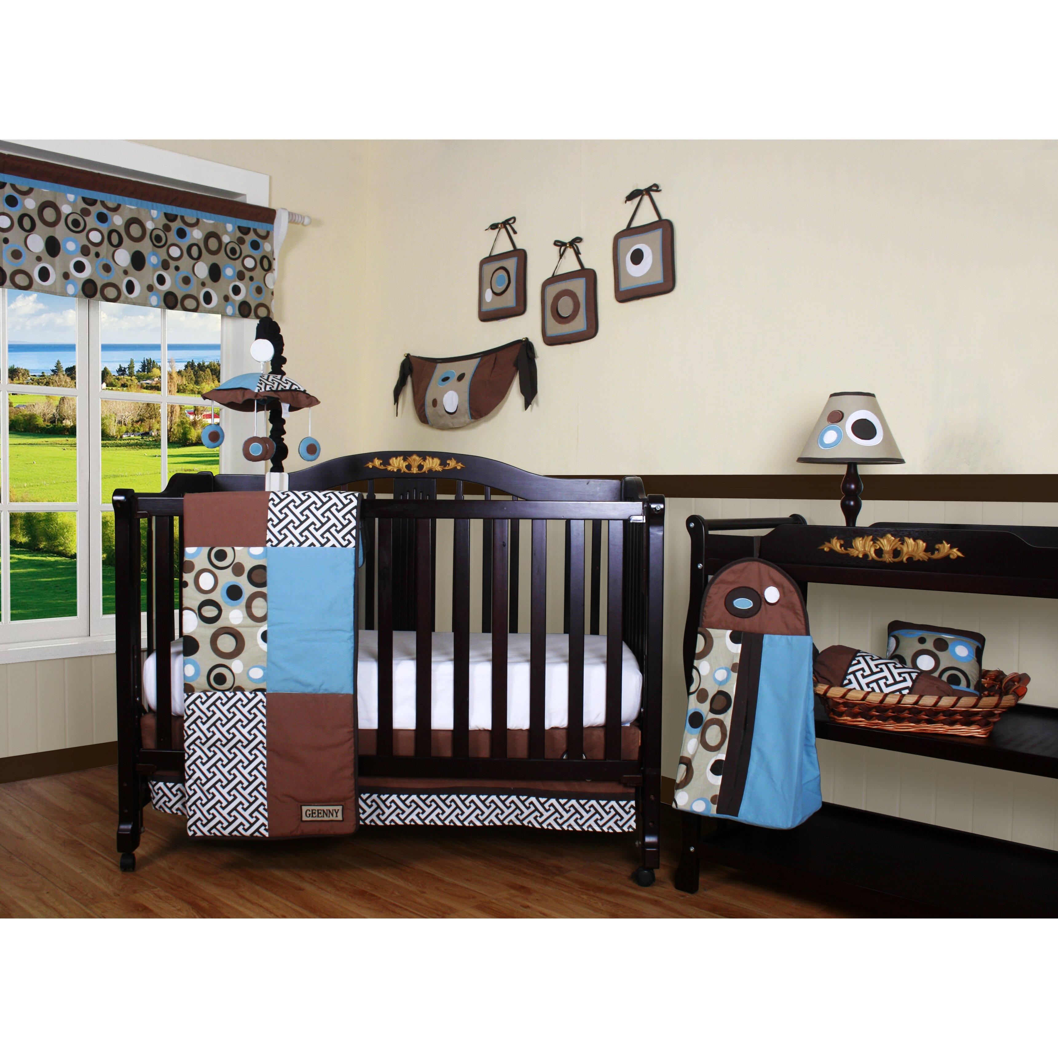 Geenny boutique scribble 13 piece crib bedding set wayfair - Geenny crib bedding sets ...