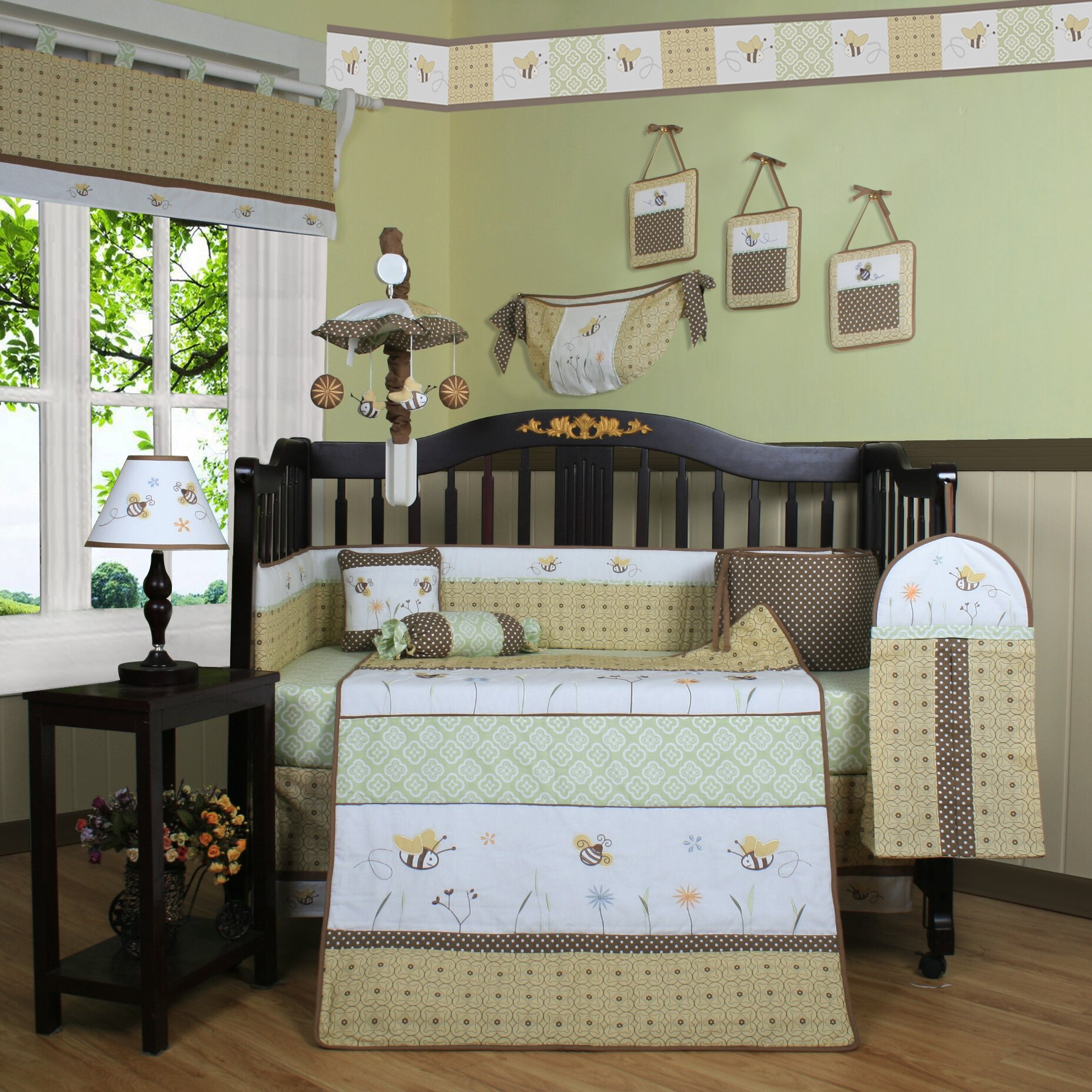 Harriet Bee Rollins 3 Piece Crib Bedding Set: Geenny Boutique Bumble Bee 13 Piece Crib Bedding Set