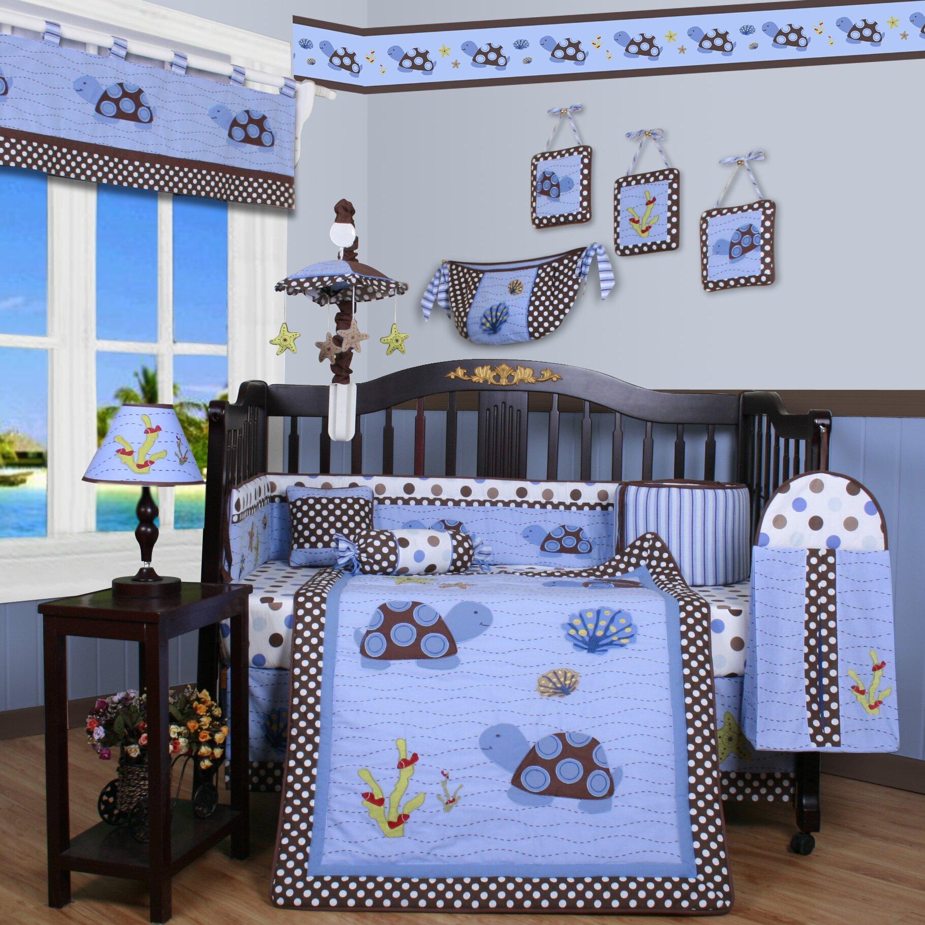 Geenny boutique sea turtle 13 piece crib bedding set reviews wayfair - Geenny crib bedding sets ...