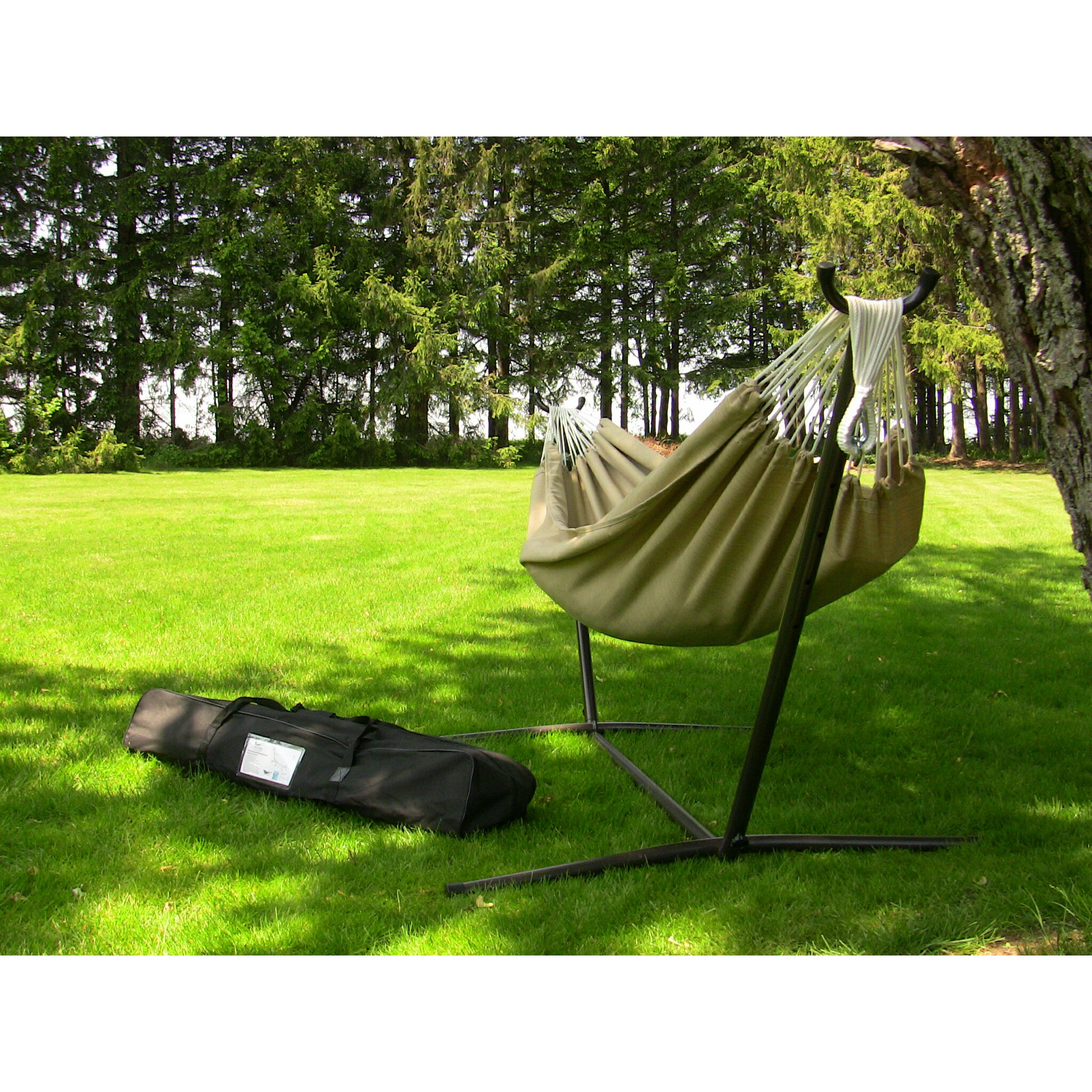 Backyard Hammock Reviews : Outdoor Patio Furniture  Hammocks with Stands Vivere Hammocks SKU