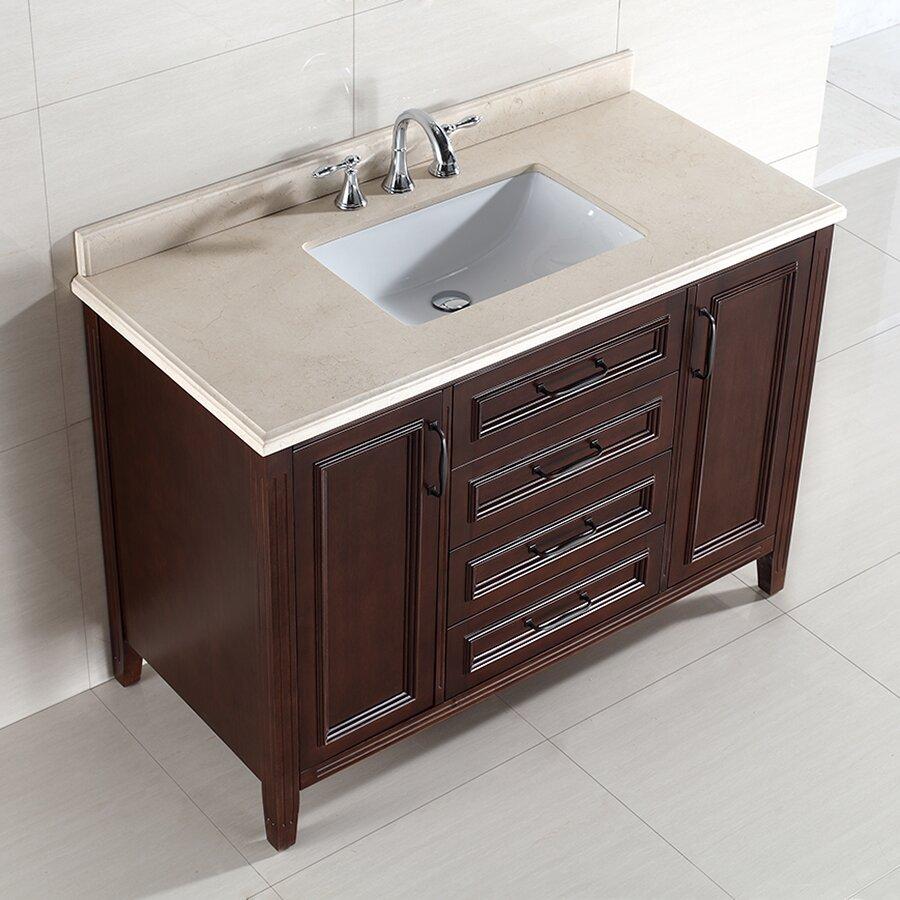 Ove decors daniel 48 single bathroom vanity set reviews wayfair - Linden modern bathroom vanity set ...