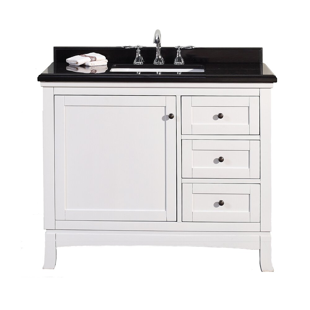 "Ove Decors Sophia 42"" Single Granite Top And Rectangular"