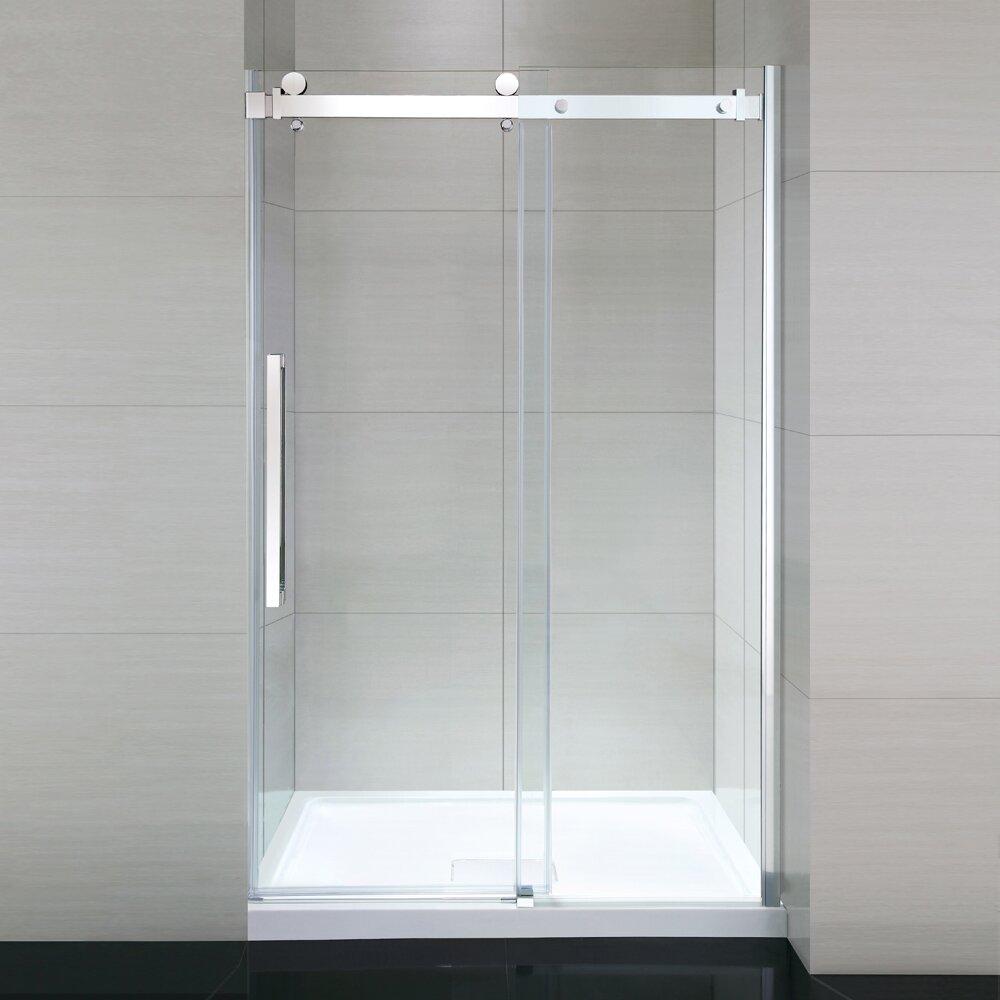 ove decors sierra 48 glass panel door reviews wayfair. Black Bedroom Furniture Sets. Home Design Ideas