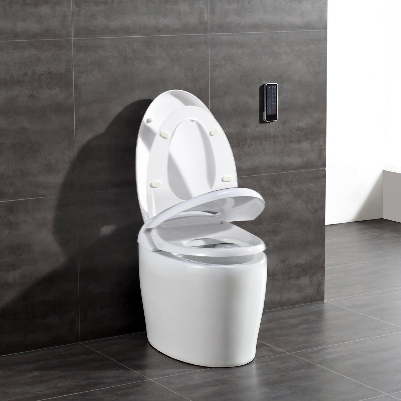 Ove Decors Tuva Smart Toilet 20 Quot Floor Mount Bidet Wayfair