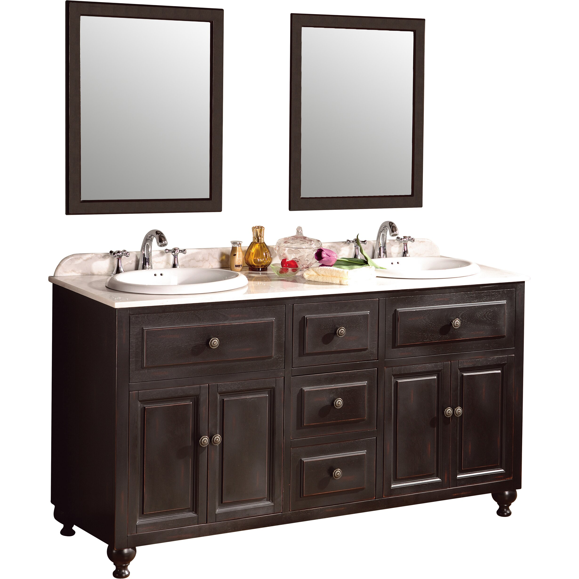 Ove Decors London 60 Double Bathroom Vanity Set Reviews