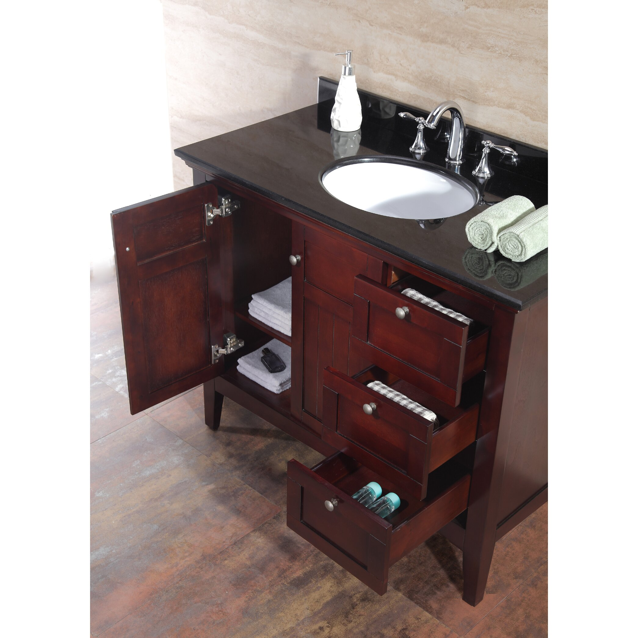 Ove decors gavin 42 single bathroom vanity set reviews for Decor vanity