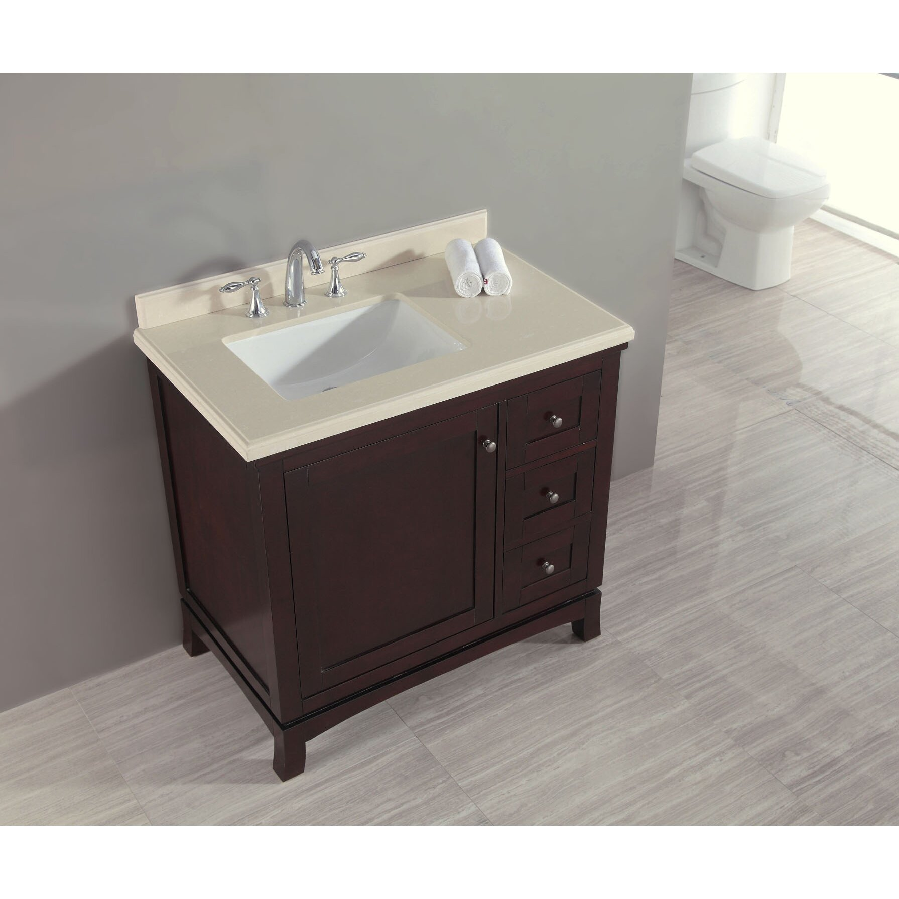 Ove decors valega 36 single bathroom vanity set reviews for Restroom vanity
