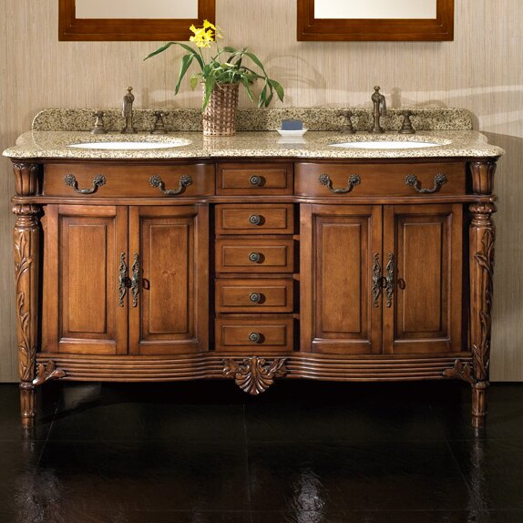 "Ove Decors Belfast 60"" Double Bathroom Vanity Set"