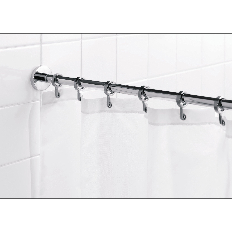 "Croydex Round 98"" Max Shower Rod With Curtain Hooks"