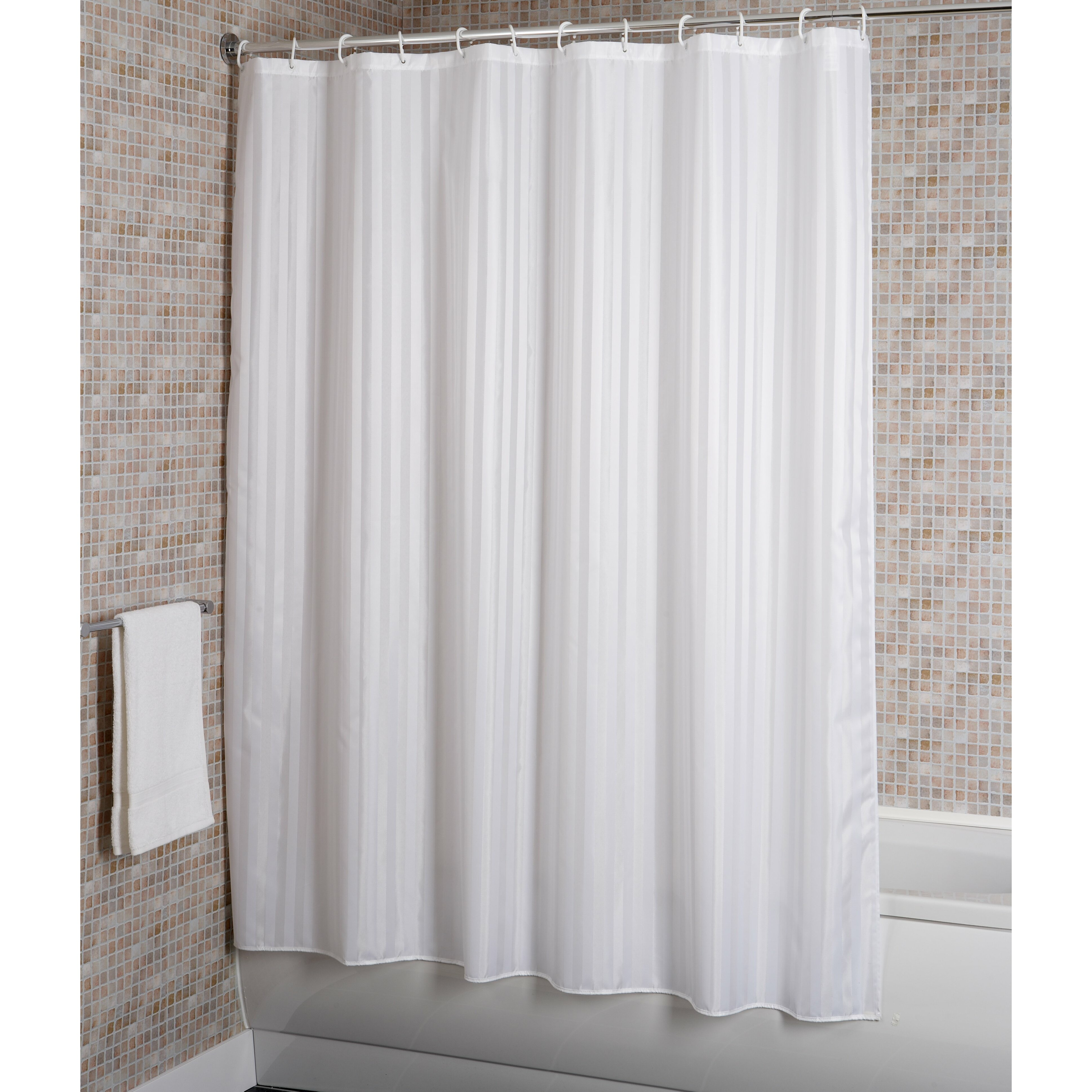 croydex stripe shower curtain reviews wayfair. Black Bedroom Furniture Sets. Home Design Ideas