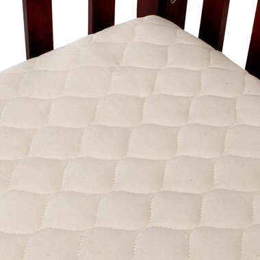 American Baby pany Organic Quilted Portable Fitted Crib