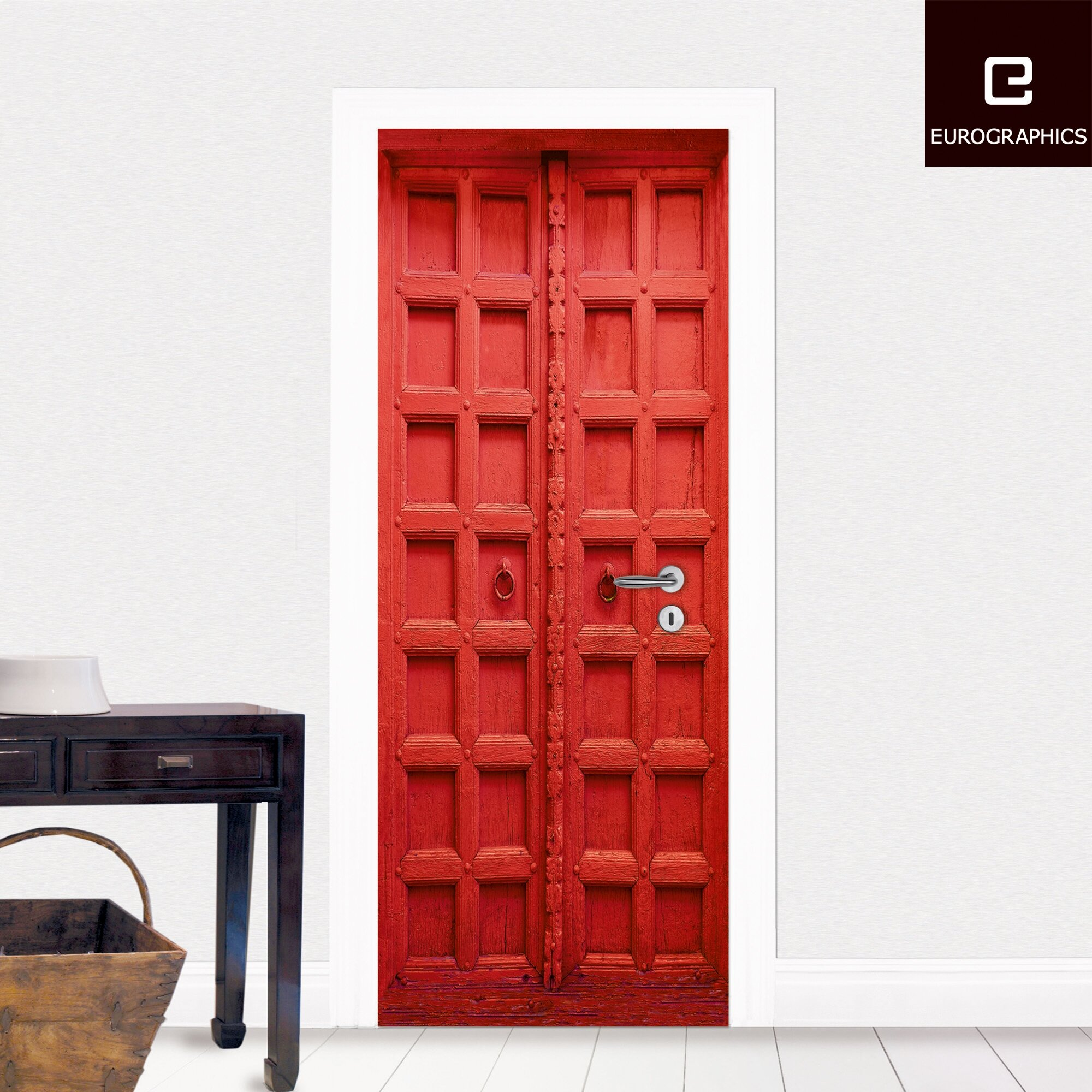 Eurographics red door wall mural wayfair uk for Door wall mural