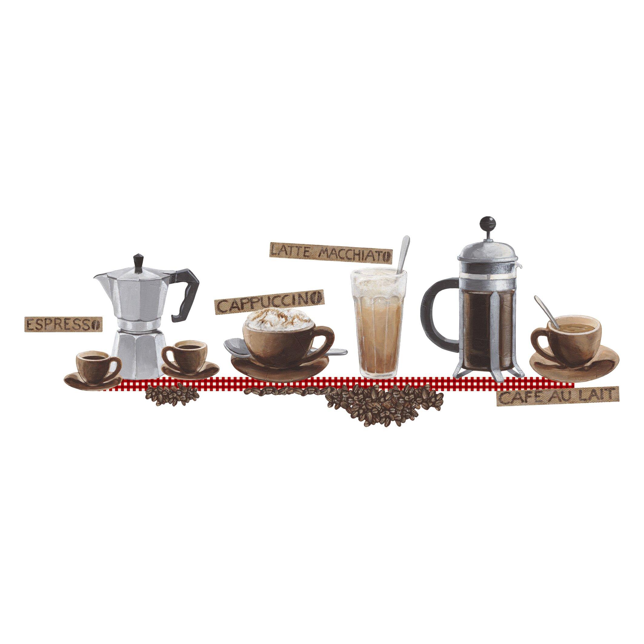 eurographics coffee wall sticker wayfair uk coffee wall stickers reviews online shopping coffee wall