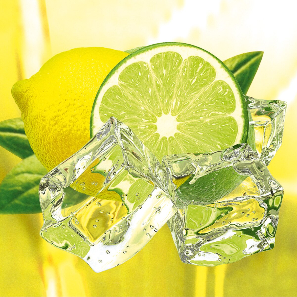 Eurographics glasbild decoglass grafikdruck von fresh lemon and lime reviews - Deco glace ...
