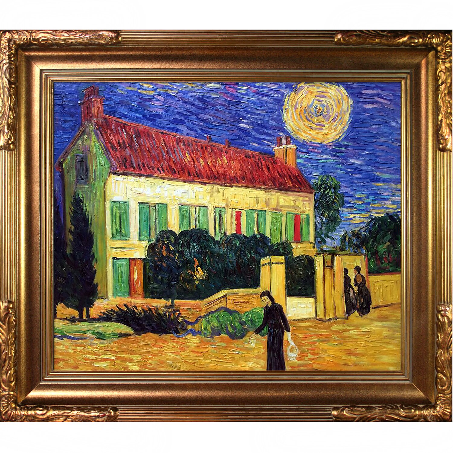 Tori Home House At Night By Vincent Van Gogh Painting