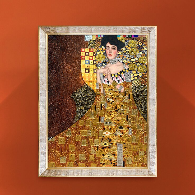 tori home portrait of adele bloch bauer i 1907 metallic embellished by gustav klimt framed. Black Bedroom Furniture Sets. Home Design Ideas