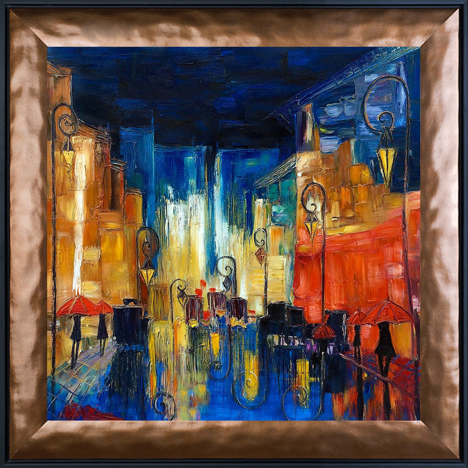 Tori home street by justyna kopania framed painting print for Framed reproduction oil paintings