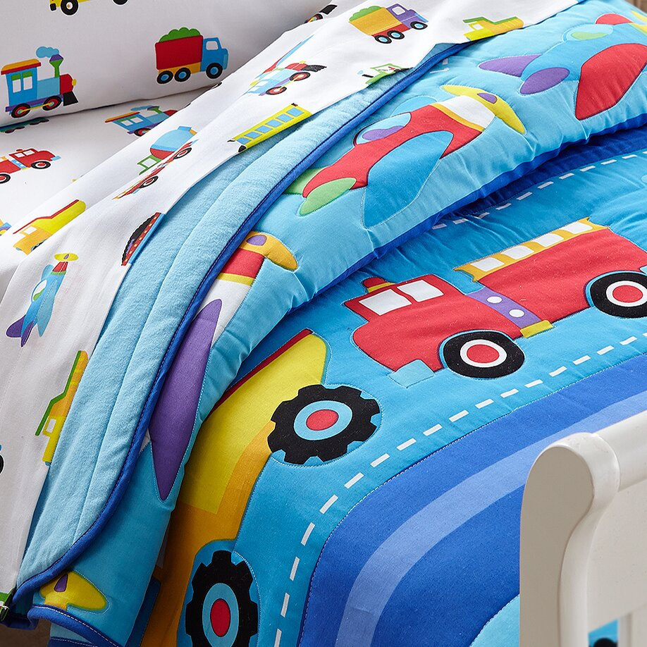 Toddler Bedding Planes Trains Trucks
