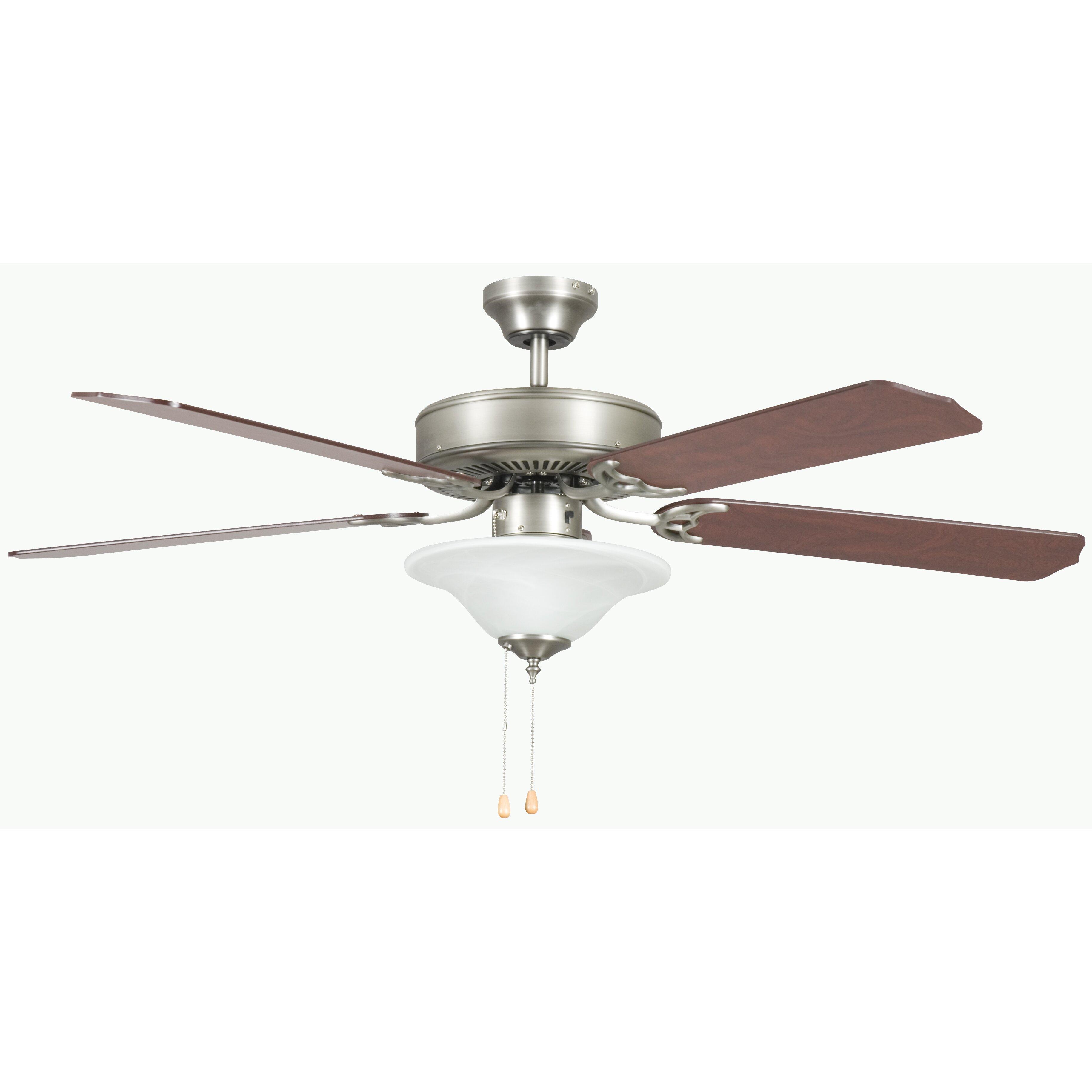 Concord fans 52 heritage 5 blade ceiling fan reviews wayfair - Ceiling fan short blades ...