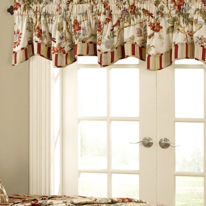 "Waverly Charleston Chirp 50"" Curtain Valance & Reviews"
