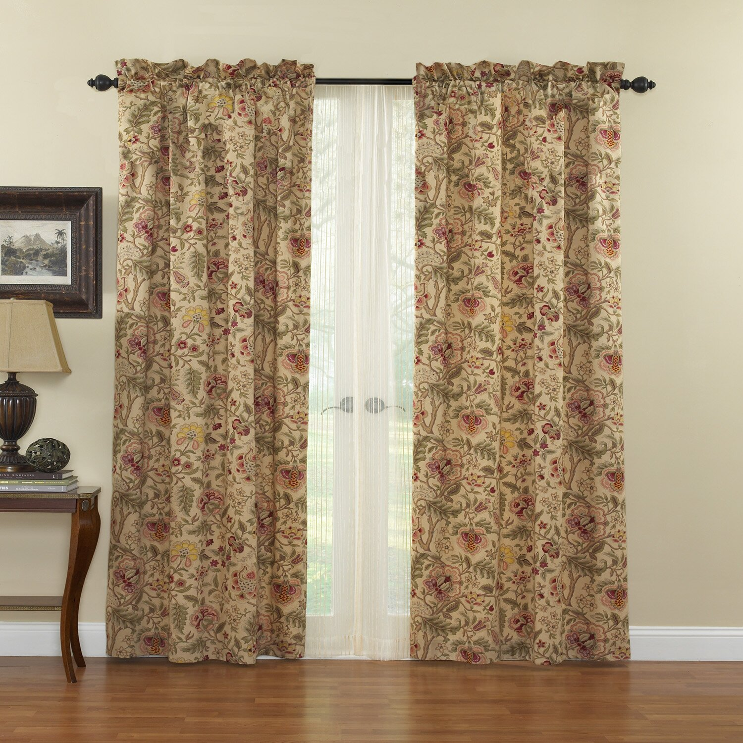 Waverly Imperial Dress Cotton Rod Pocket Single Curtain