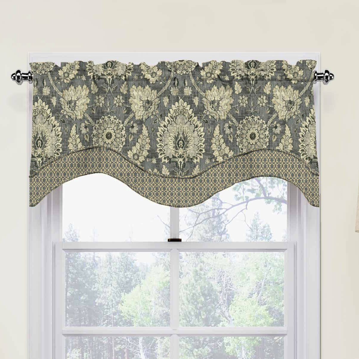"Waverly Clifton Hall 52"" Scalloped Curtain Valance"