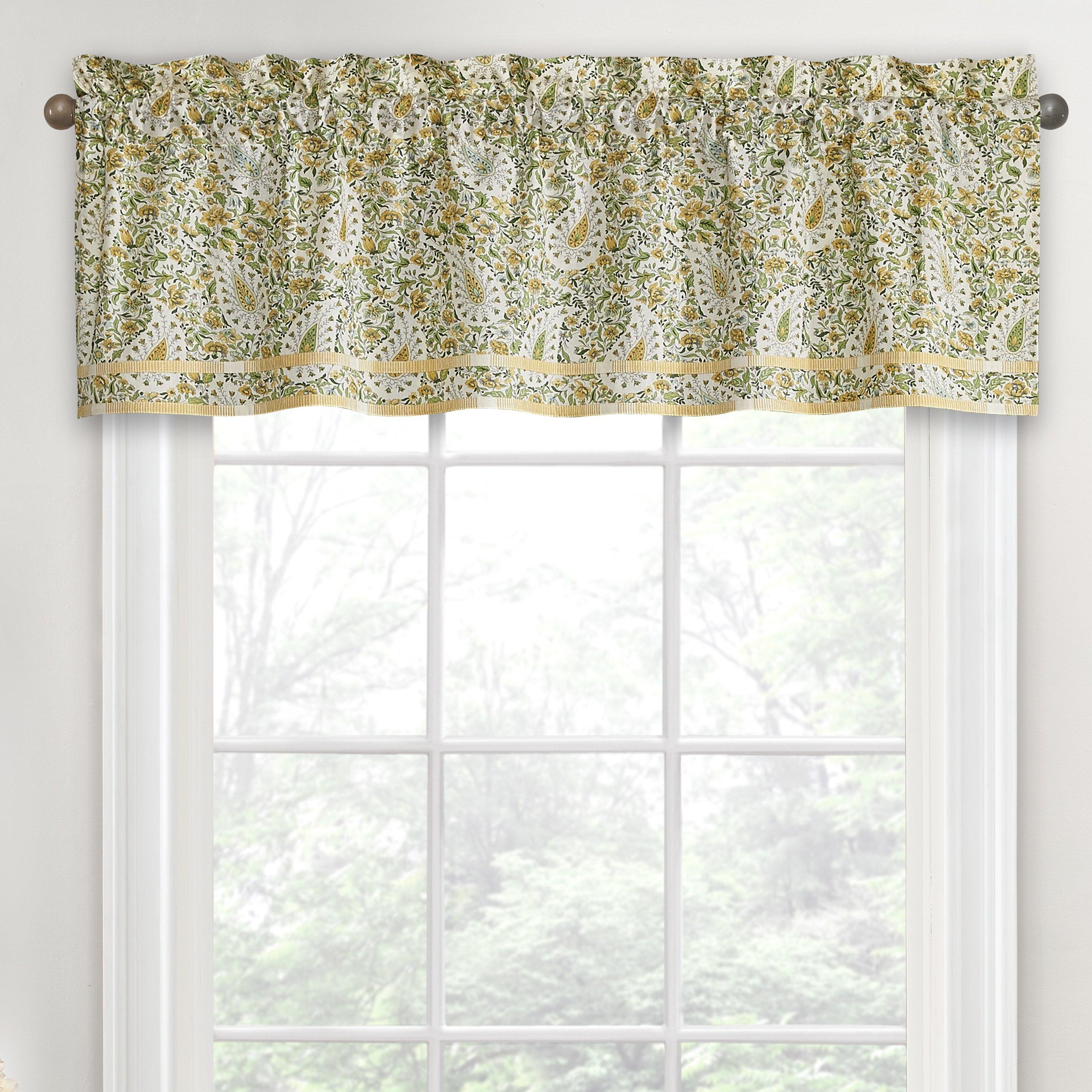 Waverly Paisley Verveine 16 Curtain Valance Wayfair