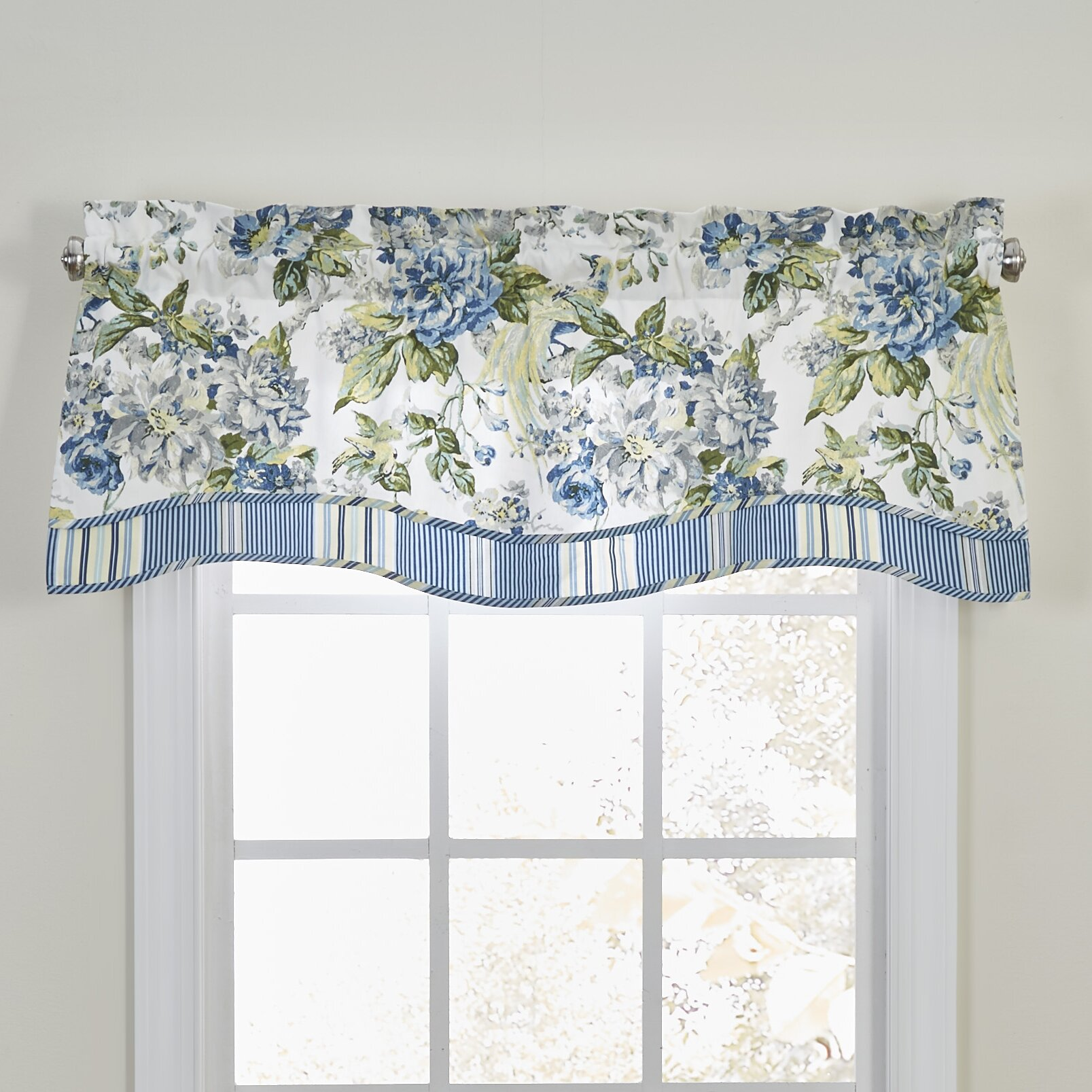 Waverly Floral Engagement Curtain Valance & Reviews