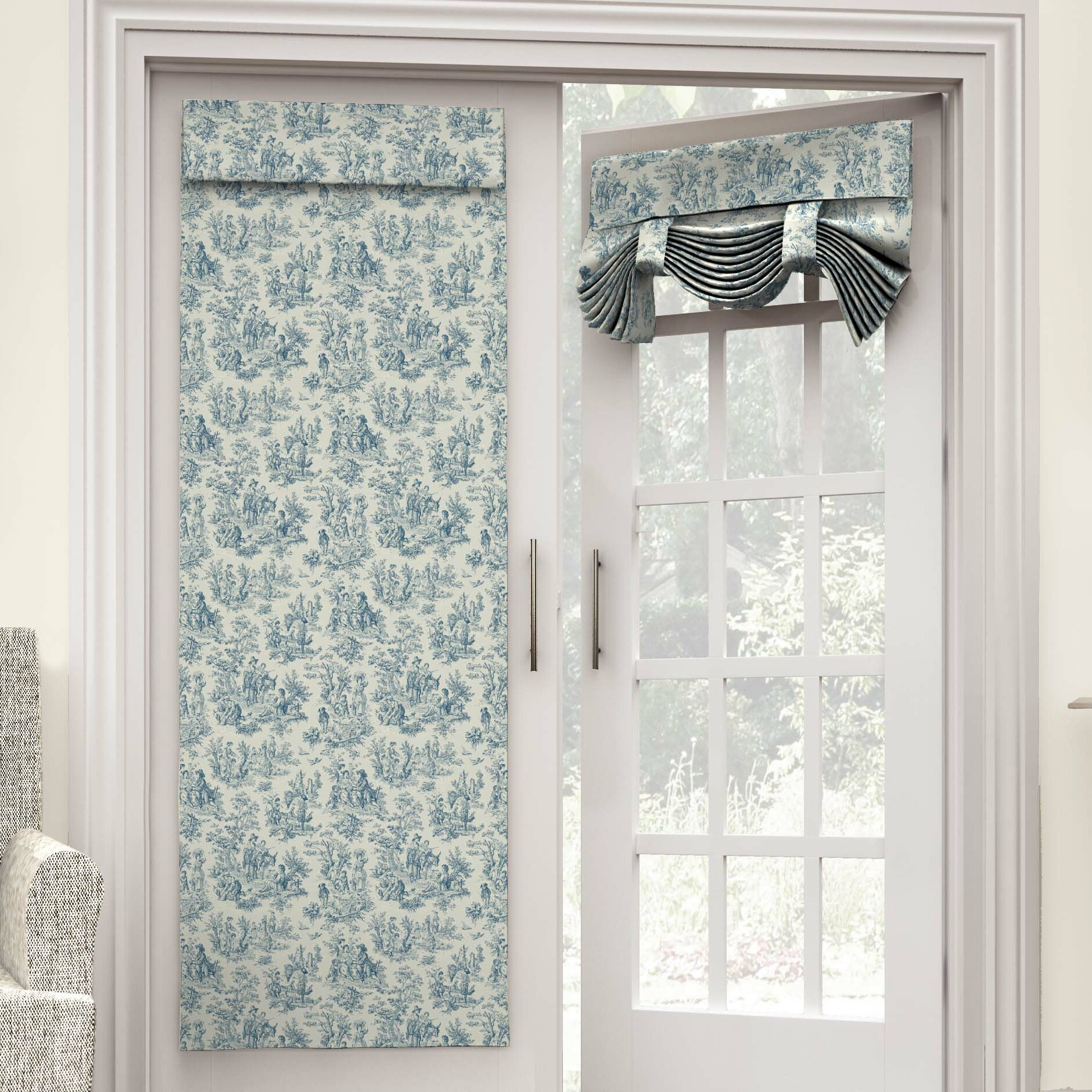waverly charmed life french door single curtain panel reviews. Black Bedroom Furniture Sets. Home Design Ideas