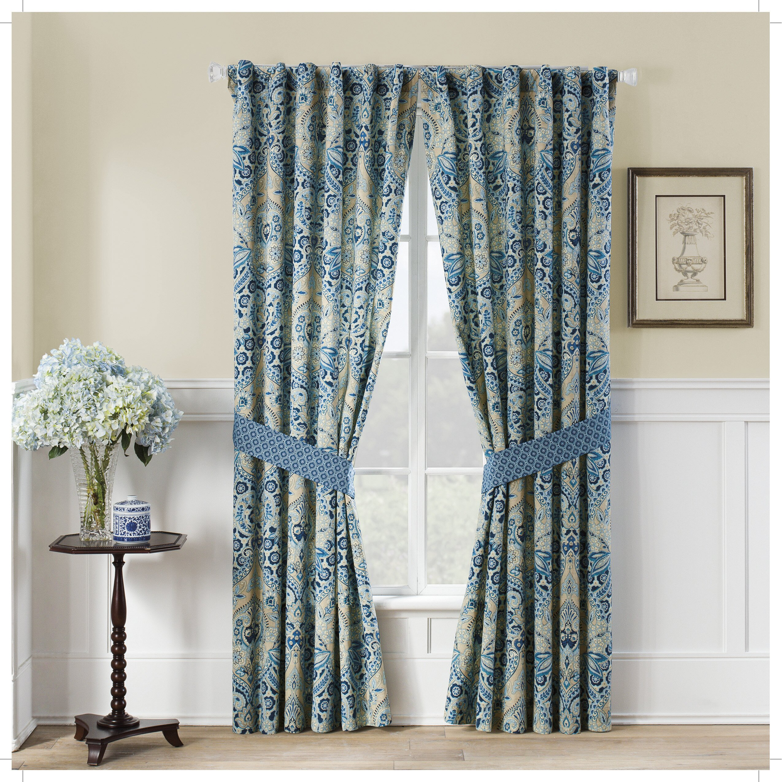Waverly Moonlit Shadows Curtain Panels Wayfair