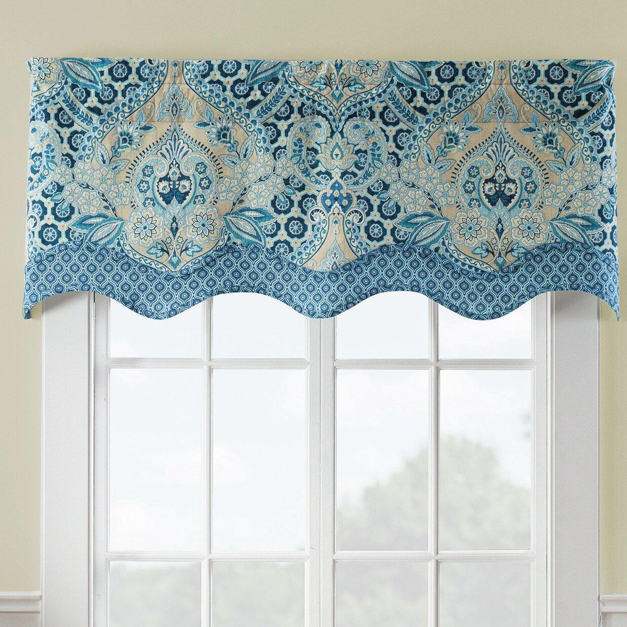 Waverly Moonlit Shadows Wave Window Curtain Valance