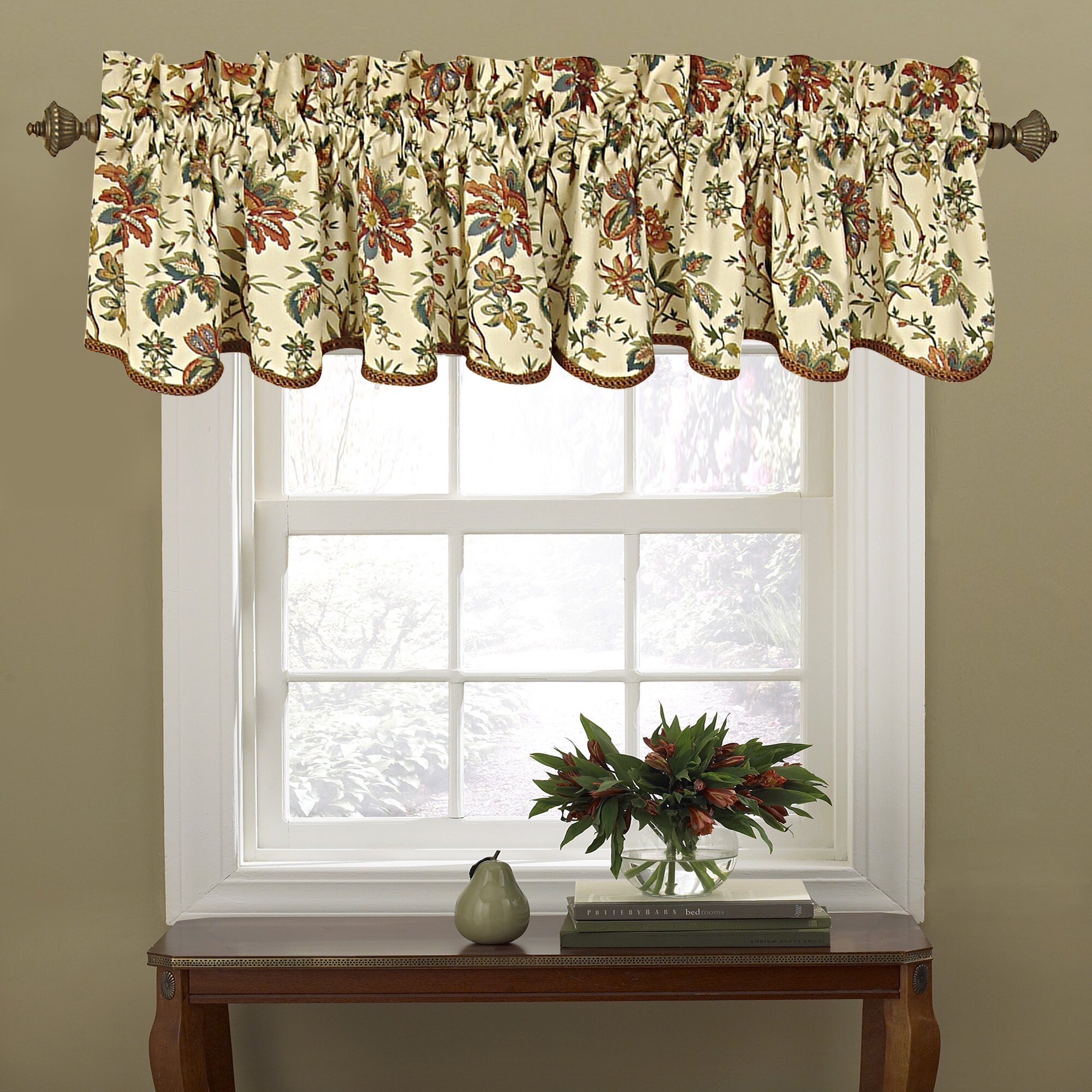 "Waverly Felicite 50"" Curtain Valance & Reviews"