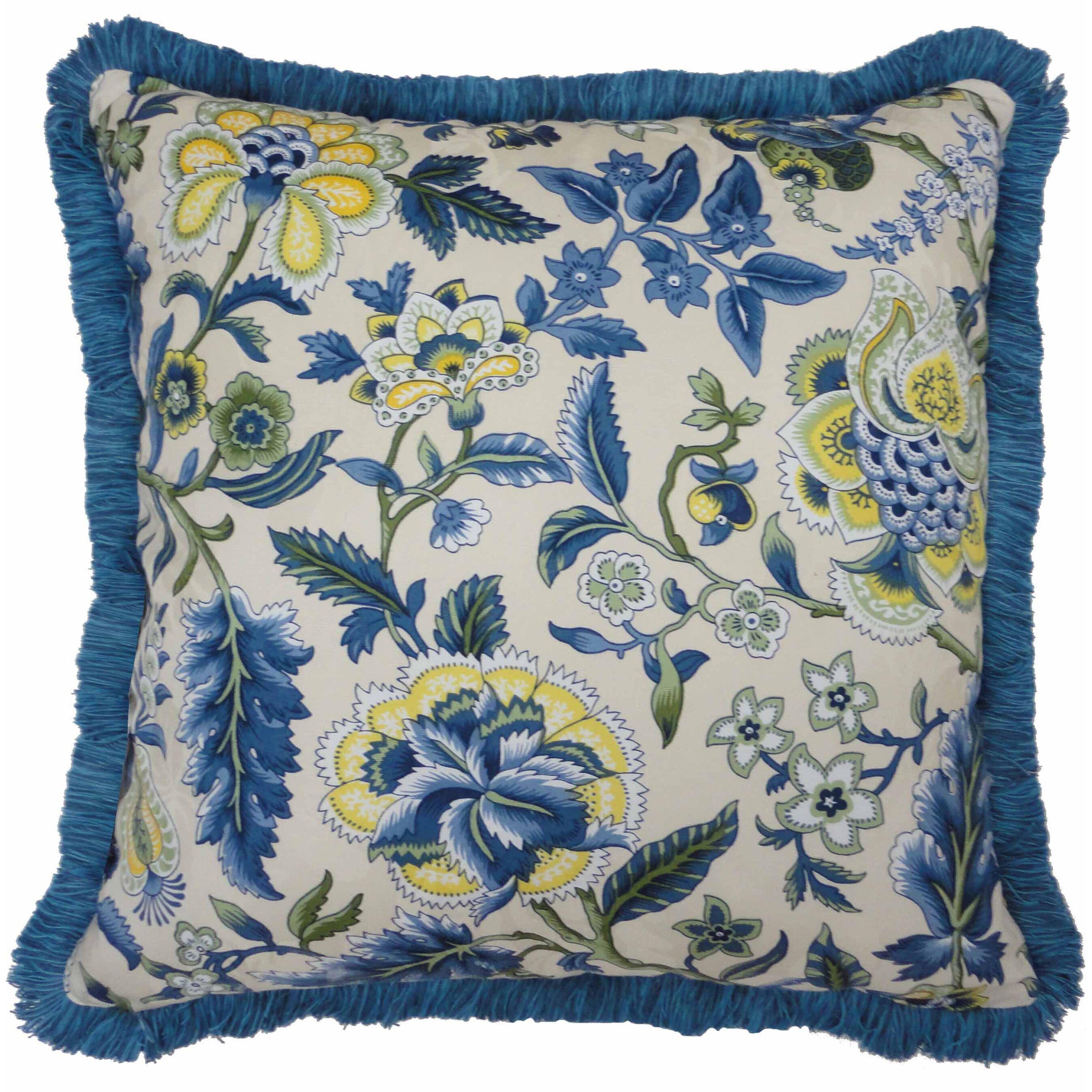 Waverly Decorative Throw Pillows : Waverly Imperial Dress Garden Path Striped Reversible Cotton Throw Pillow & Reviews Wayfair