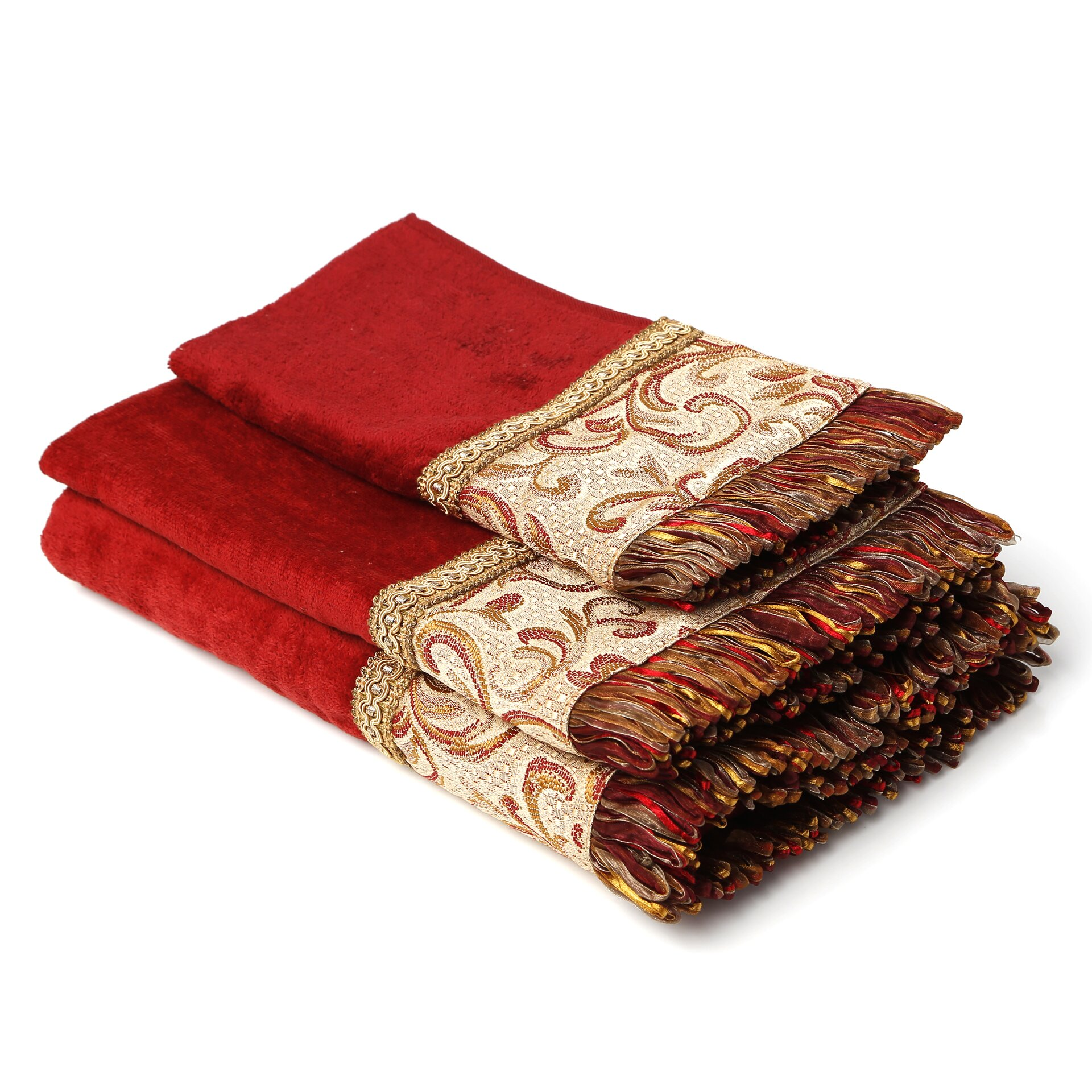 Sherry kline swirl paisley decorative 3 piece towel set for Decorative bath towels