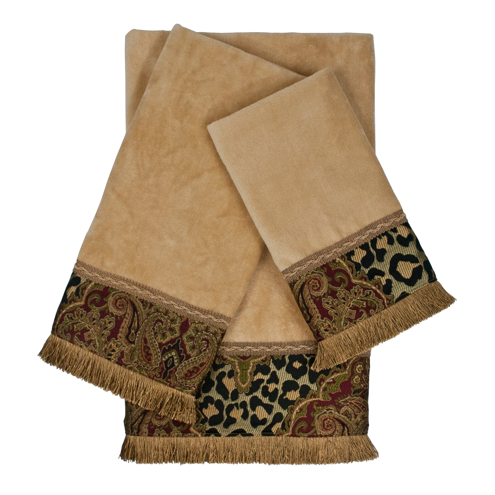 Sherry kline tangiers decorative embellished 3 piece towel for Decorative bath towels