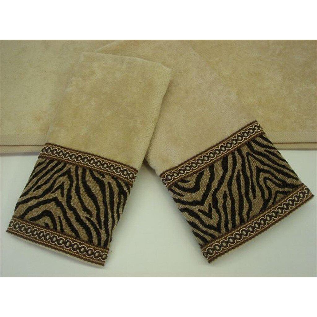 Sherry kline zebra gimp decorative 3 piece towel set wayfair for Zebra kitchen set