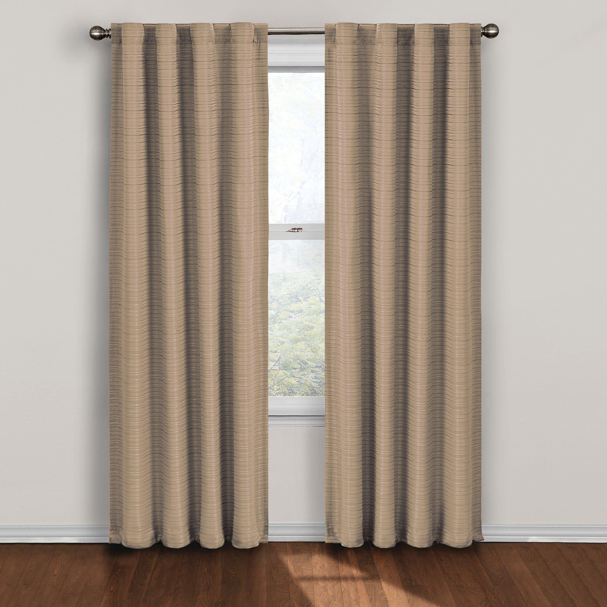 Eclipse Curtains Twist Rod Pocket Blackout Single Curtain Panel Reviews Wayfair