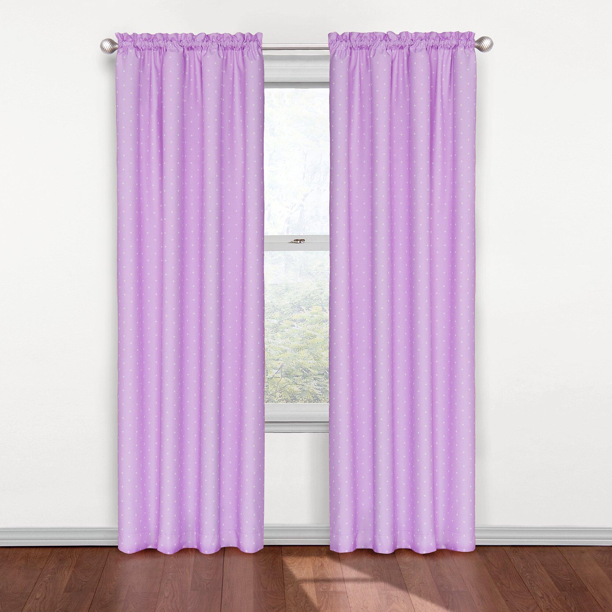 Eclipse Curtains Kids Rod Pocket Single Blackout Curtain Panel Reviews Wayfair