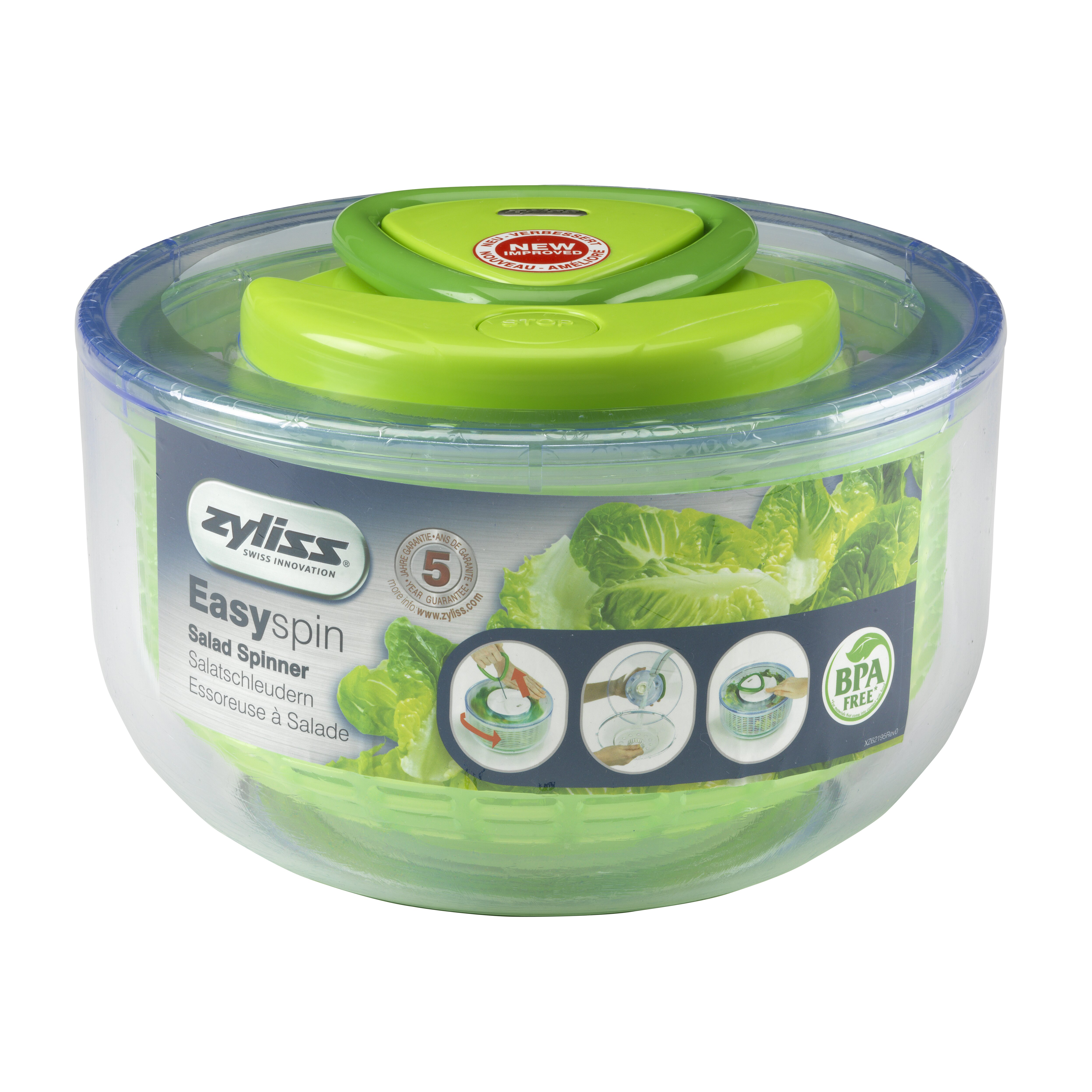 Zyliss Easy Spin Salad Spinner (4 Quart) Review