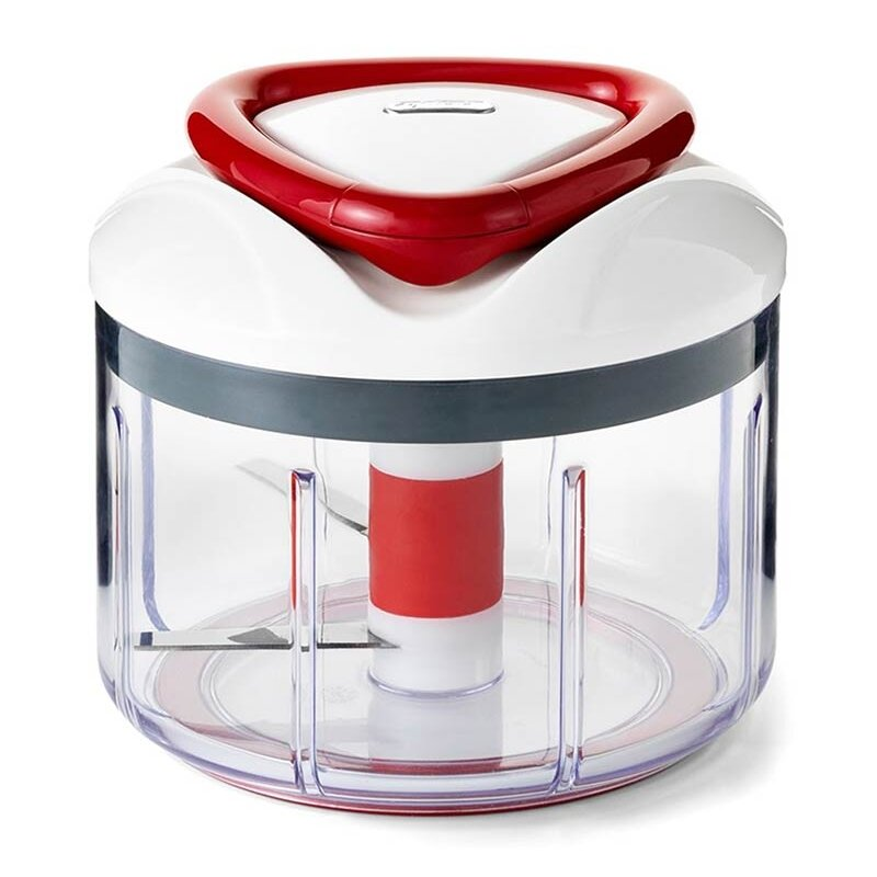 zyliss easy pull manual food processor and chopper