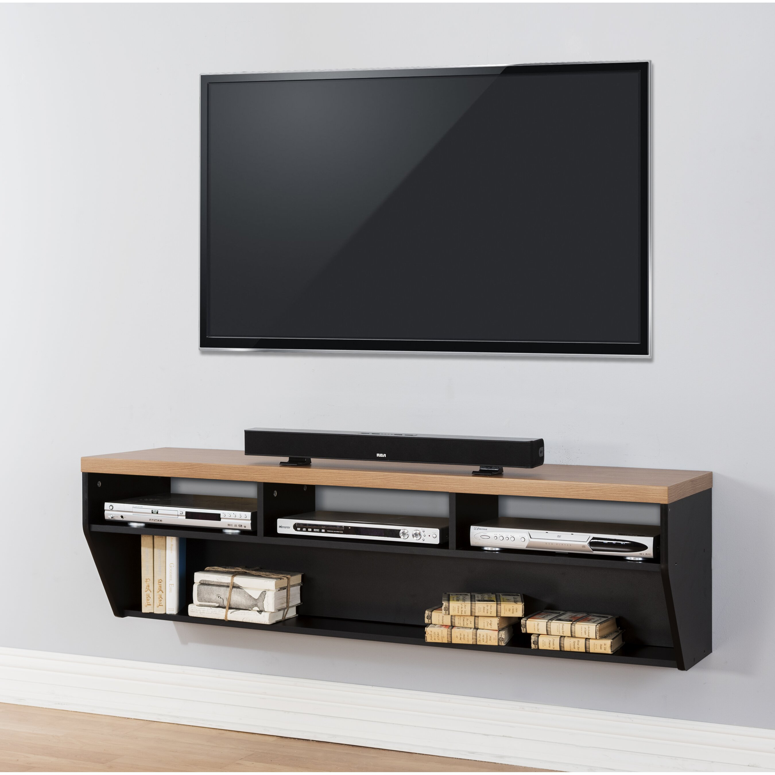 martin home furnishings 60 angled sides wall mounted tv. Black Bedroom Furniture Sets. Home Design Ideas