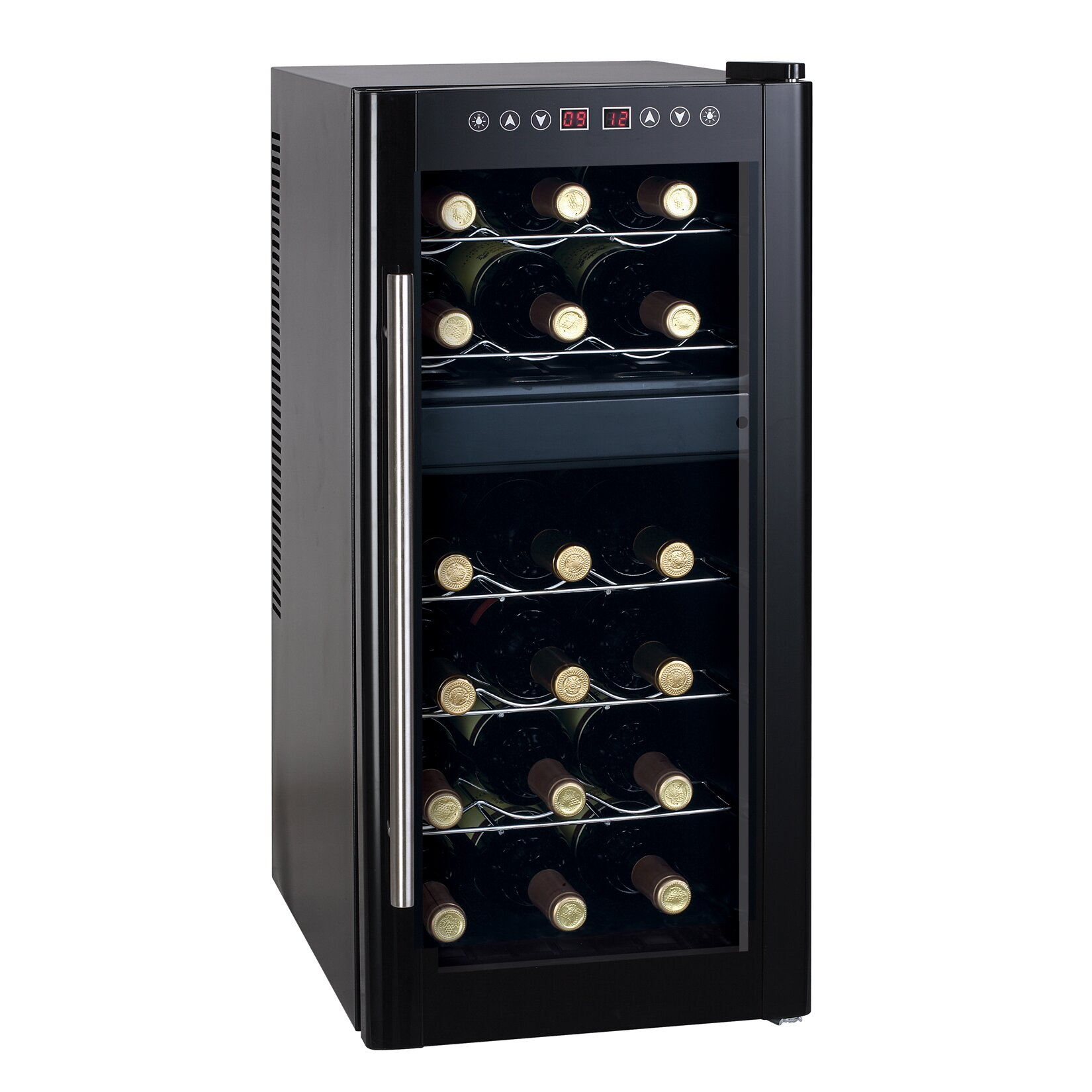 sunpentown 18 bottle dual zone freestanding wine refrigerator reviews wayfair. Black Bedroom Furniture Sets. Home Design Ideas