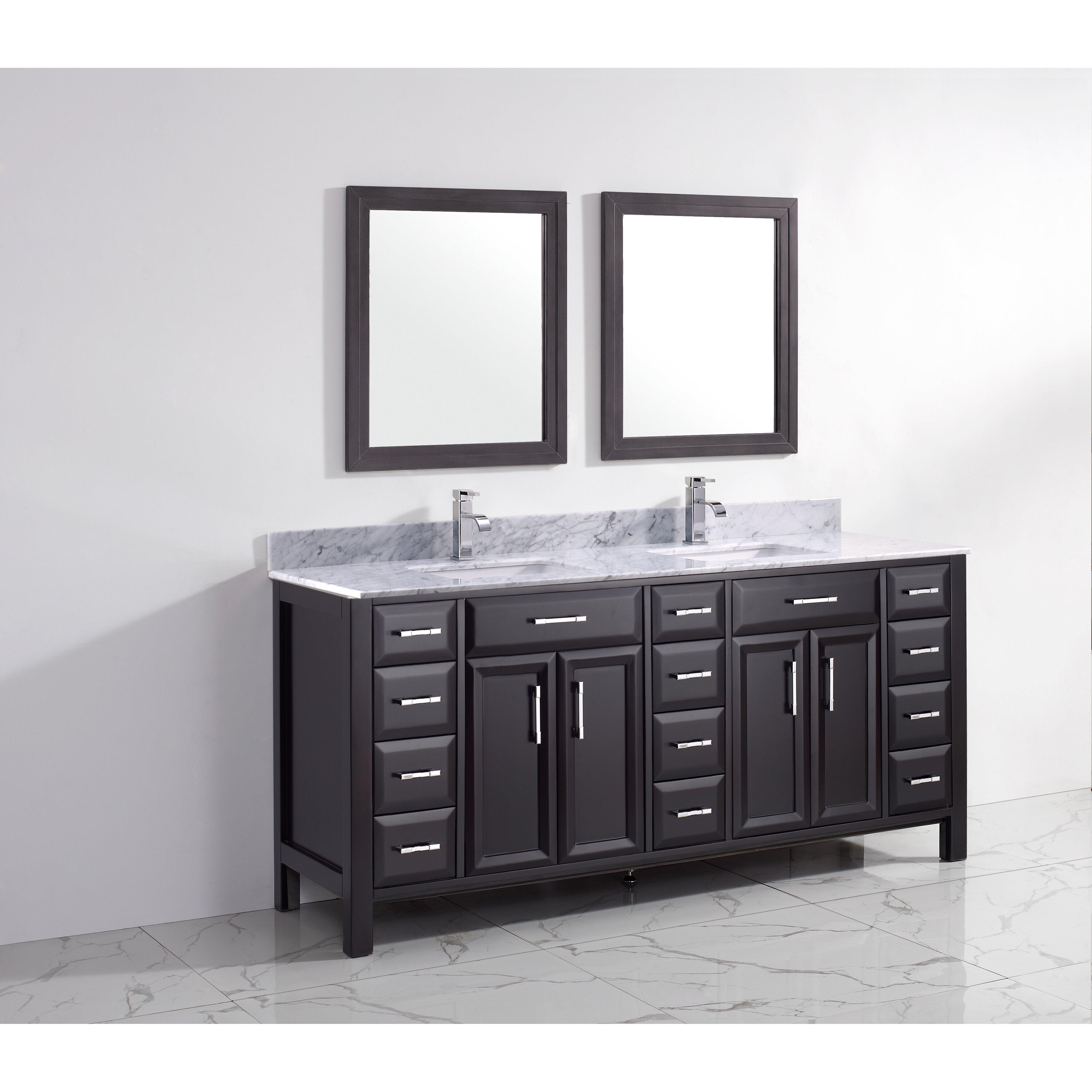 Bauhaus Bath Caledonia 75 Double Bathroom Vanity Set Reviews Wayfair